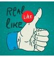 LikeThumbs Up symbol hand drawn vector image