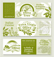 olive oil and olives product banners vector image
