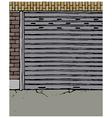 Derelict Street Scene vector image