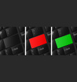 blank keyboard buttons set red button green vector image