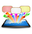 Colorful marquee on tablet PC vector image vector image