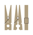 Clothes peg vector image vector image