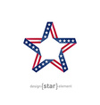 4th July Independence day star from ribbon with vector image