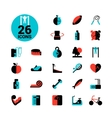 Fitness Icon Set vector image vector image