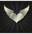 valentine metal heart vector image