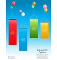 Infographic banners and balloons vector image vector image