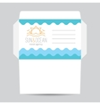 envelope with sun and waves logo vector image
