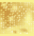 abstract square mosaic tile yellow golden vector image