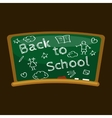 Back to school background blackboard for vector image