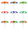 Beach umbrella isolated on white background vector image