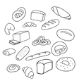 different varieties of bread vector image