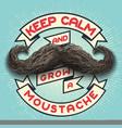 keep calm and grow a moustache vector image