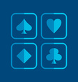 poker icon theme vector image