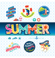 Summer design element label badge icon set vector image
