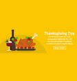 thanksgiving day banner horizontal concept vector image