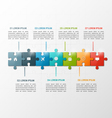 7 steps puzzle style infographic template vector image