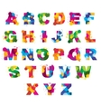 Letters alphabet painted by color splashes vector image