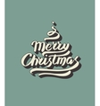 Merry christmas hand drawn lettering vector image