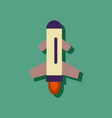 flat icon design collection flying rocket in vector image vector image