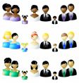 wedding party icons vector image vector image