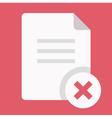 Close Document Icon vector image