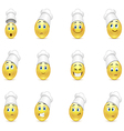 Set of smile cooks vector image