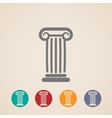 set of ancient column icons vector image