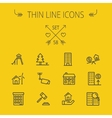 Real Estate thin line icon set vector image vector image