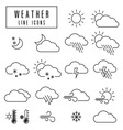 line icons weather vector image vector image