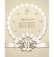 Wedding Congratulation or Invitation with roses vector image