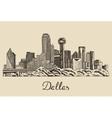 Dallas skyline hand drawn vector image