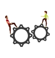 gear and people cartoon vector image