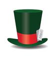 Internet green Hat Mad Hatter vector image