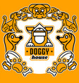 on the theme of dogs logo vector image