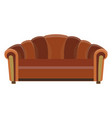 sofa icon room color design flat furniture vector image