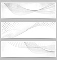Swoosh line halftone web header collection vector image