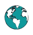 cartoon globe map world earth business icon vector image