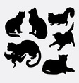 Cat pet animal silhouette vector image