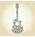 Guitar from notes vector image