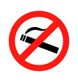 dont smoke prohibition sign vector image