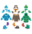 male winter clothing vector image