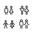 toilet icon great for any use symbol vector image