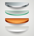 round shelves vector image