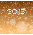 2015 falling snow gold vector image