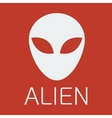 alien on red background vector image