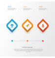battle icons set collection of missile danger vector image