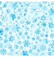 Bright blue background with snowflakes vector image