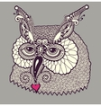 digital drawing of owl head vector image