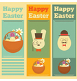 easter three vector image