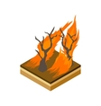 Forest fire icon cartoon style vector image
